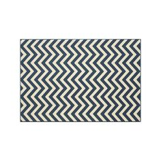 Momeni Baja Chevron Indoor Outdoor Rug, Blue (Navy) #OutdoorRugs