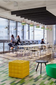 Interior by Stantec. Image by Ron Blunt. Lighting designed by Jonah Takagi for Roll & Hill Roll Hill, Bluff City, Open Office, Light Architecture, Light Decorations, Lighting Design, Offices, Commercial, Mint