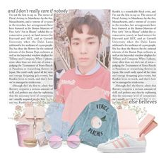 """""""key // and i don't really care if nobody else believes"""" by nolxy ❤ liked on Polyvore featuring Topshop, NLY Accessories, Être Cécile, adidas Originals, Nook, kpop, shinee, key and kibum"""