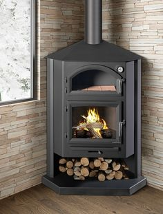 Bronpi Gredos-H 10kw Wood Burning Stove with Oven - £940.36 :