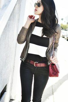 black & white stripes / her imajination