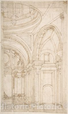 Architecture Antique, Classic Architecture, Architecture Drawings, Architecture Details, Etiquette Vintage, Church Design, Vintage Wall Art, Architectural Elements, Baroque
