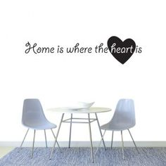 Home is where the heart is wallsticker Where The Heart Is, Eames, Chair, Furniture, Home Decor, Stool, Interior Design, Home Interior Design, Arredamento