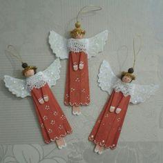 Decoració de nadal amb pals de gelat #angels