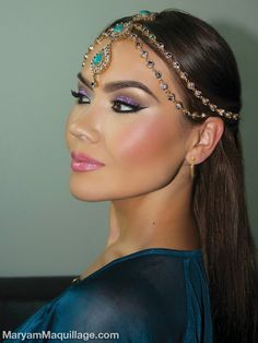 Fit for a Queen: Exotic Makeup & Headpiece