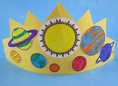 Good Night Party Crown Crafts for Kids | PBS KIDS Sprout link to a very nice printable of the planets