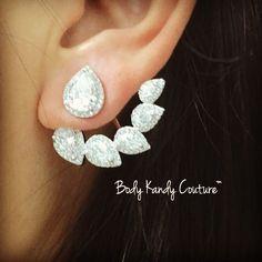 Poire Cz Diamond Ear Jackets