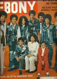 The Jacksons on the cover of ebony magazine 1974