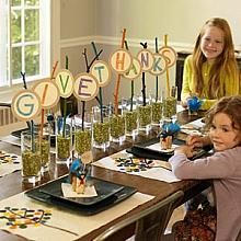 Give Thanks Party Creations...fun for the children's Thanksgiving table.