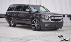 2014 Chevy Tahoe KMC Wheels (Faction 686)