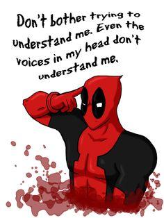 Gotta love Deadpool. =3                                                                                                                                                                                 More