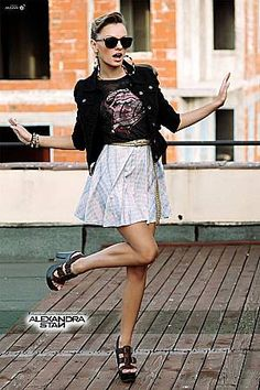 Image uploaded by AndreeaGabriela. Find images and videos about alexandra stan on We Heart It - the app to get lost in what you love. Alexandra Stan, Stan Love, Blonde Beauty, Hollywood Stars, Sequin Skirt, Bring It On, Mini Skirts, Singer, Elegant