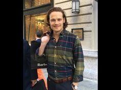 Outlander Sam Heughan in NY  for Barbour on 09/22/16 @outlanderitaly