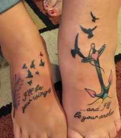 Sister anchor tattoos on pinterest anchor tattoos for Sister in law tattoos