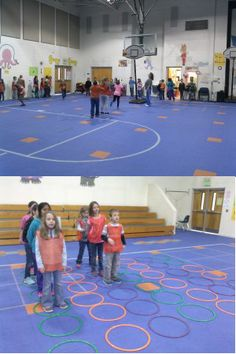 Students playing Connect Four game. Getting exercise while trying to get four in a row! Change to make exercise as reward for making basketball in hoop as opposed to punishment for missing the hoop. Physical Education Activities, Elementary Physical Education, Elementary Pe, Pe Activities, Health And Physical Education, Educational Activities, Baby Education, Sport Snacks, Pe Lesson Plans
