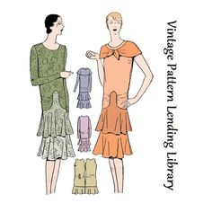 1920s Ladies Tiered Dress - Reproduction Sewing Pattern #Z4949