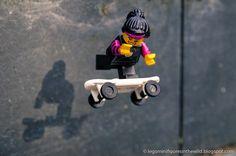 Lego Minifigure Series 6 Skater Girl - Wallpaper