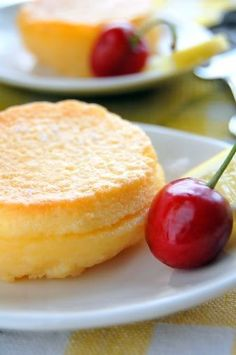 Baked Lemon Pudding - A pretty spring dessert recipe for Mother's Day.