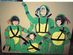Ninja turtle birthday party cut out Too Cute!!! Would be funny even for adults;)