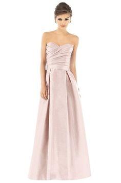 Alfred Sung D537 Bridesmaid Dress | Weddington Way - $139 pearl pink