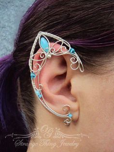 Pair of elven ear cuffs Night bird by StrangeThingJewelry on Etsy