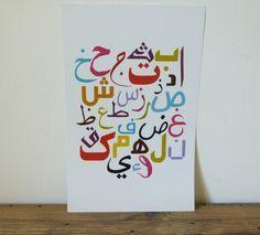 Arabic Alphabet Poster #1