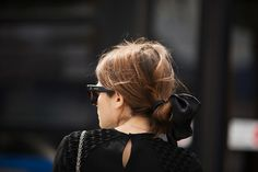 We love the idea of using asimple length of ribbontotie up a messy bun or an effortlessly pulled back ponytail . . . sweet but not saccharine. Justperfect.