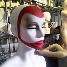"""LA ROSA MANNEQUINS,Milan, Italy, """"Working on winter make-up suggestion"""", pinned by Ton van der Veer"""
