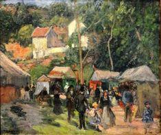 Festival at the Hermitage - Camille Pissarro - The Athenaeum