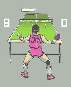 The Ping Pong Championships of '82 Art Print