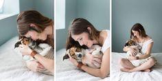 Оригинальная фотосессия с новорожденным... псом (17 фото)