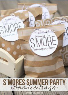 Smores Summer Party Goodie Bags-- landeelu.com