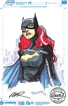 Batgirl by Humberto Ramos, colours by Edgar Delgado *