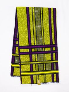 African print Fabric African fabric by the yard Wax print fabric African clothing Ankara fabric by the yard cotton yellow purple