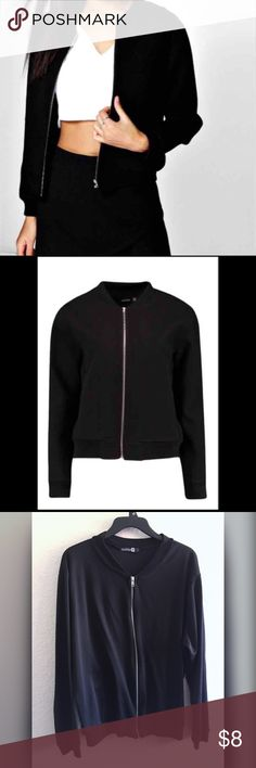Boohoo Plus Size 16 Zip Up Jacket True to size 16 zip up jacket lightweight Boohoo Jackets & Coats