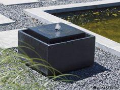 Fontaine design en terrazzo avec éclairage LED. Modèle : Sonora