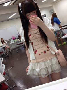 Kawaii fashion Kawaii Fashion, Punk Fashion, Lolita Fashion, Asian Fashion, Girl Fashion, Mode Kawaii, Kawaii Style, Style Lolita, Harajuku
