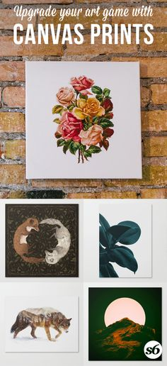 "Upgrade your art game with unique and popular canvas prints from Society6. Experience fine art print on bright white, fine poly-cotton blend, matte canvas using latest generation Epson archival inks. Individually trimmed and hand stretched museum wrap over 1-1/2"" deep wood stretcher bars. Includes wall hanging hardware."