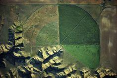 Μarias river drainage and pivot irrigator in Montana by Alex G. Maclean