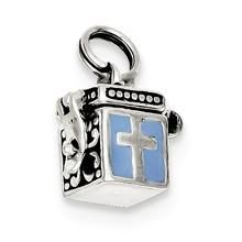 Enameled Prayer Box Charm in Sterling Silver