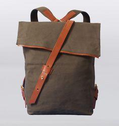 "Great looking bag fits a 15"" Mac.   Seventy Eight Percent Jurgen 15"" Laptop Backpack - Olive"