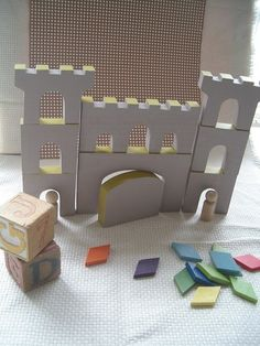 Wooden Castle Blocks: These are very sweet.
