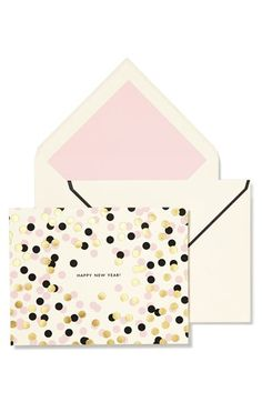 kate spade new york 'happy new year' confetti note cards (set of 10) available at #Nordstrom