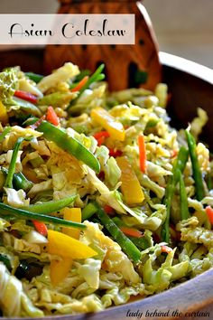 Asian Coleslaw ~ A delicious mix of fresh vegetables and dressing