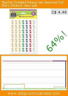Teacher Created Resources Assorted Foil Stars Stickers Valu-pak (Office Product). Drop 64%! Current price C$ 4.49, the previous price was C$ 12.58. https://www.adquisitiocanada.com/teacher-created-resources/assorted-foil-stars