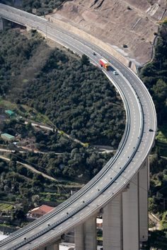 Nothing but bridges and tunnels : the A10 - Autostrada dei Fiori - in Italy. A miracle.