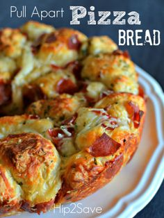 Pull Apart Pzza Bread Hip2Save Just used Trader Joe's pizza dough and used half of the ingredients listed. Love!