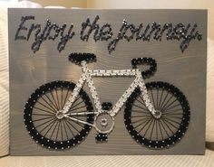 Bicycle String Art, Bike, Cycling- order from KiwiStrings on Etsy! www.kiwistrings.etsy.com