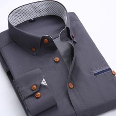 2015 New Men's Fashion Casual Long Sleeved Shirt Slim Fit Male Social Business Dress Shirts Solid Color Camisas Social Masculina