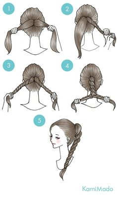 (twisted updo pony tails) – Cynthia Auzou – - New Site Cute Simple Hairstyles, Pretty Hairstyles, Funky Hairstyles, Formal Hairstyles, Summer Hairstyles, Twist Ponytail, Twisted Updo, Ponytail Hairstyles, Men's Hairstyle